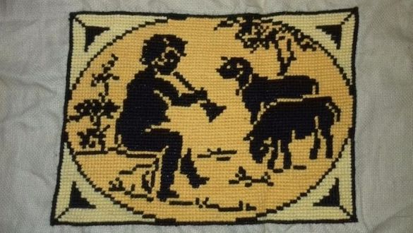 Стар гоблен - овчарче / картина