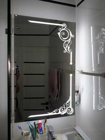 Зеркало с подсветкой и шкафом