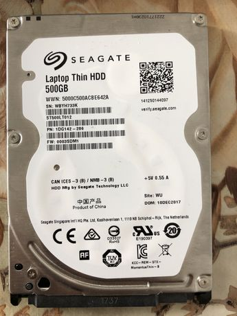 Laptop thin hdd 500 gb segate