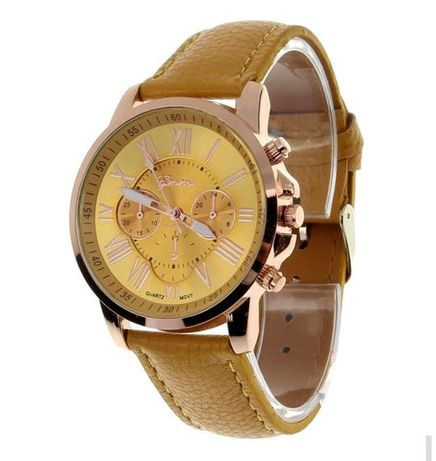 Дамски бял зелен жълт лилав черен часовник Geneva