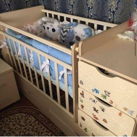 """Детская кроватка """"Жираф"""" за 20000тг"""