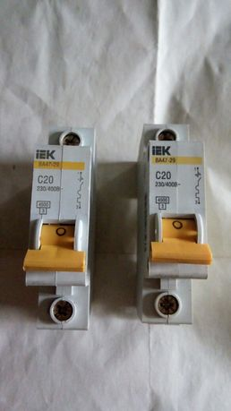 Автоматы для эл-ой сети IEK BA47-29 C20 230\400В новые