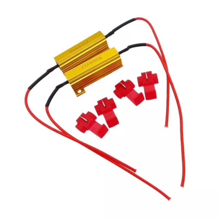 Rezistenta 6 ohm / 50w canbus, fara eroare bec ars led: P21W, T20, etc