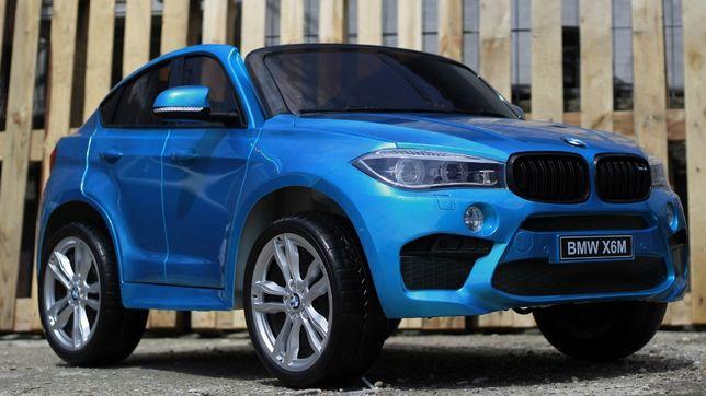 Masinuta electrica pentru 2 copii BMW X6M culoare Metalizata #Albastra
