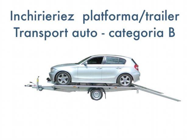 Inchiriere platforma/trailer axa simpla, categoria B