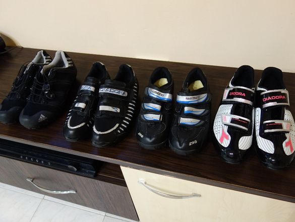 Shimano, Diadora, Adidas - обувки за колоездене