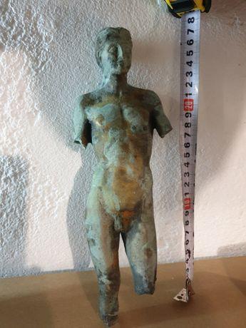 Много стара бронзова човешка фигура - 28см !