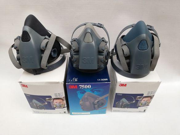 3М 7501 ,7502 ,7503 лицева маска.Оригинален продукт