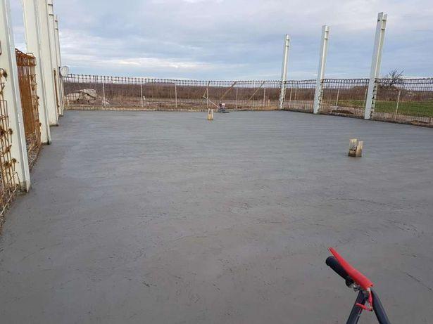 Pardoseli beton finisat elicopterizat