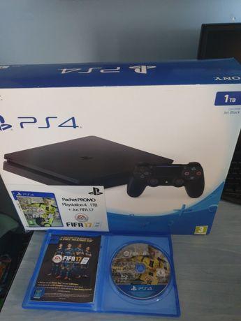 PS 4 SLIM Jet- Black  1 TB