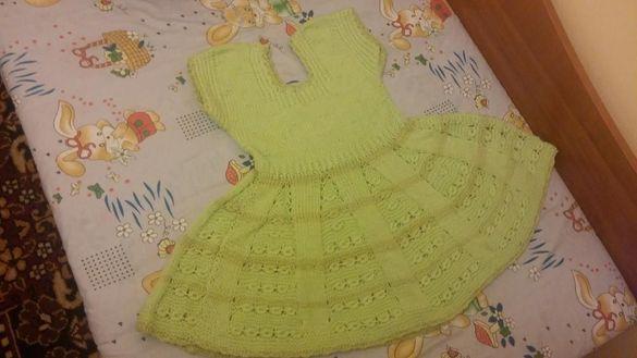 Плетена детска рокля 5 6 години