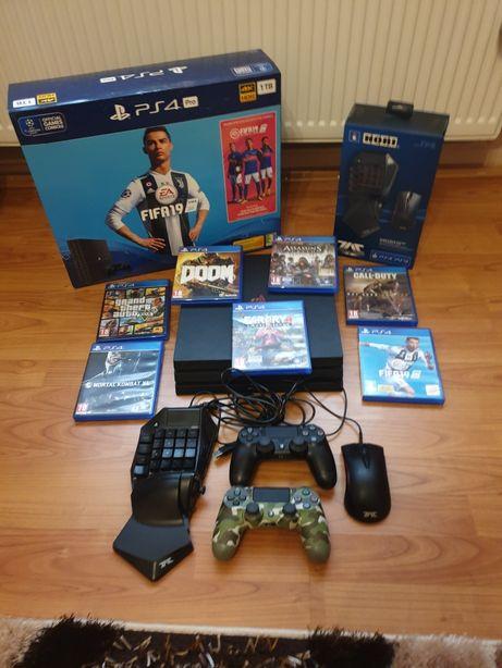 Playstation 4 pro ps4 pro cu 2 controller (maneta)