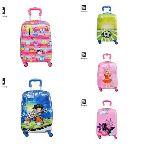 Детски куфари с четири колела, много картинки, КОД: 31800