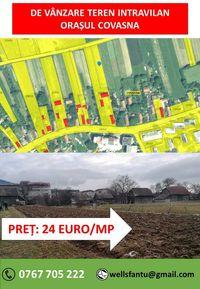 De vânzare 1430 mp teren intravilan în orașul Covasna