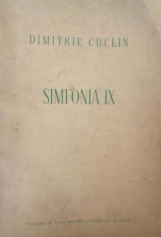 Dimitrie Cuclin, Simfonia IX, 1957, 416 pagini, tiraj 600 exemplare
