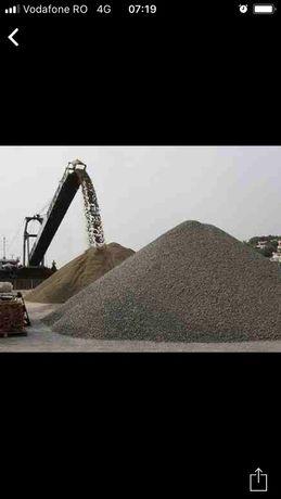 Vand/Transport nisip pietriș balast piatra refuz de ciur margaritar