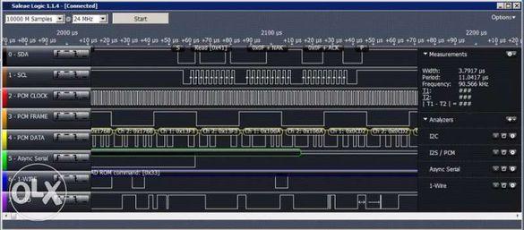 логически анализатор 24MS/sec 8 канален