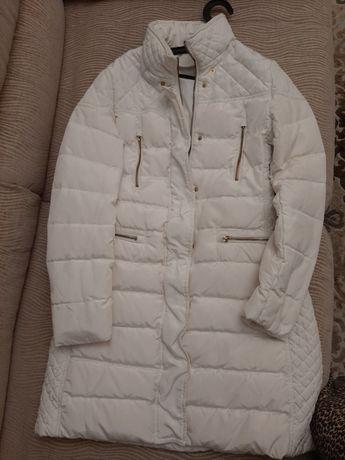Удлинённая куртка/пуховик женский белый