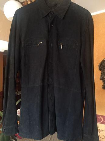 Замшевая куртка-рубашка ZARA мужская