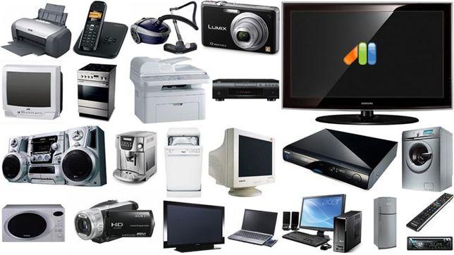 Ремонт бытовой техники и компьютеров.