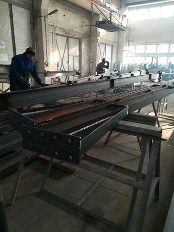 Vând structura metalica hală 14m×55m×4m  pentru folosirea depozitarea
