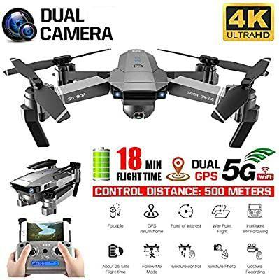 Drona cu 2 camere 4K Wide electrica 120* GPS, Wi-Fi, Control 500 Metri