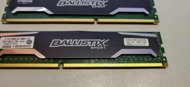 DDR 3 - 1600 MHz Crucial Ballistix Sport 4X4 gb - 16 Giga