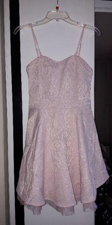 Розова официална рокля