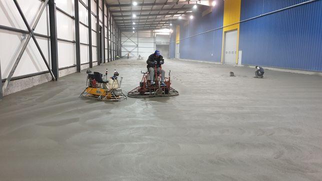 Turnari beton elicopterizat cu cuart, beton finisat sclivisit mecanic