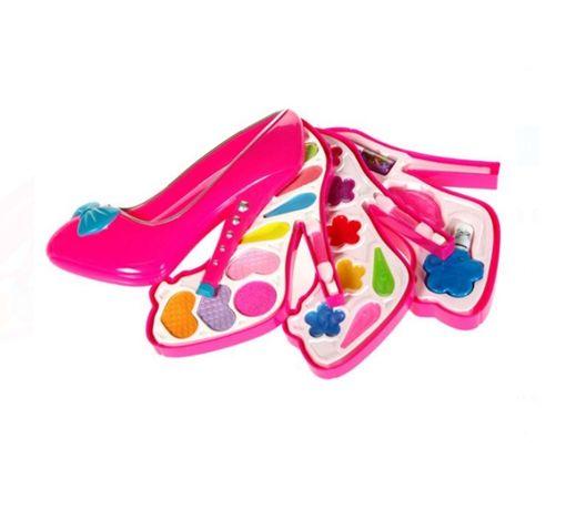 Set machiaj tip pantof, diferite nuante de ruj si farduri, +3 ani
