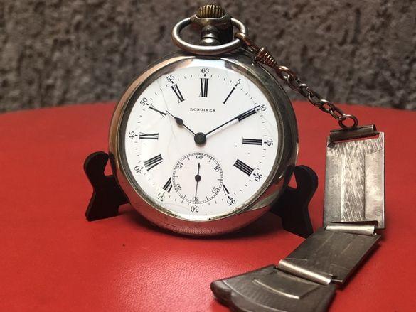 Джобен часовник Longines от края на 19-ти в.