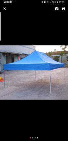 Cort pavilion pliabil 3×3 albastru Sigilat!