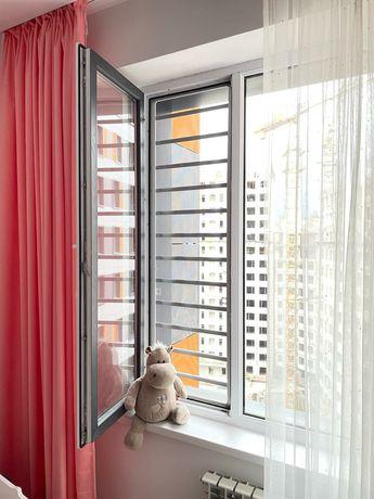 Решетки на окна от выпадения +москитные сетки в ПОДАРОК