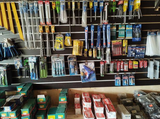Строительный магазин, Шурупы, гвозди, пена, лаки, инструменты, диски