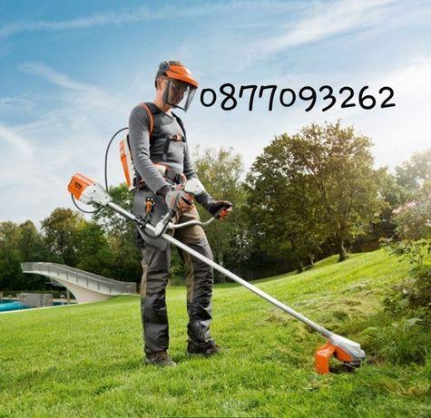 Почистване на дворове и грижа за двора