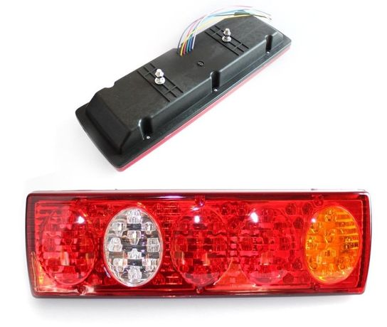Set 2 Auto LED Lampi Spate Universale, 5 Functii, Remorca, Camion 24V