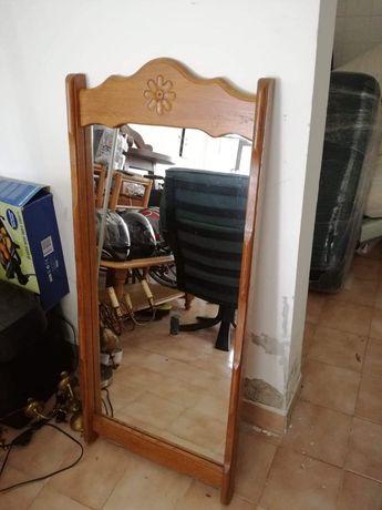 Масивно дъбово огледало