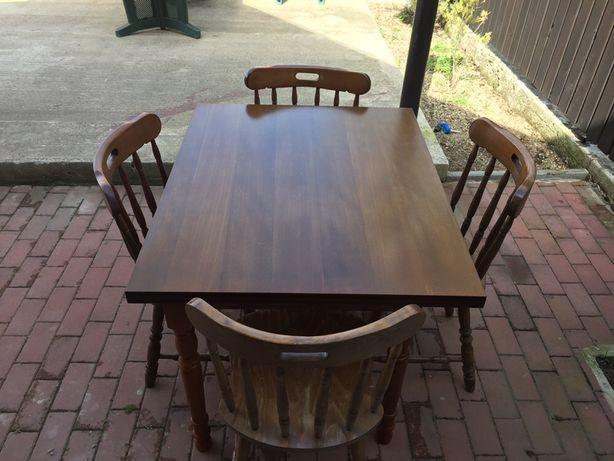 Vând mese și scaune noi lemn masiv