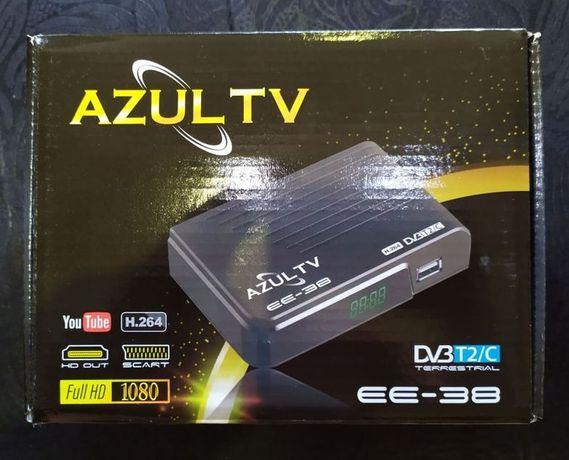 Цифров тунер AZUL TV DVB T2/C ,Ново. Комбиниран ТВ тунер.