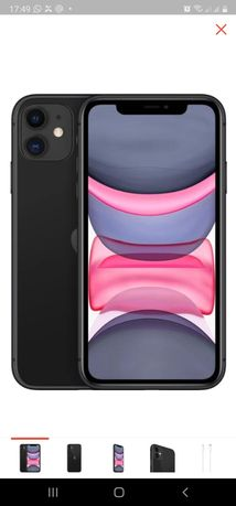 Смартфон Apple iPhone 11 64Gb Slim Box черный