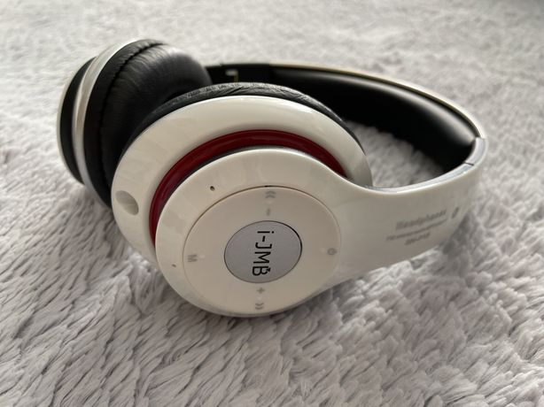 Casti i-jmb, bluetooth, alb,radio,microfon incorporat