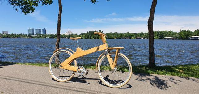 Bicicleta de oras din lemn Coco-Mat model deosebit, schimbator automat