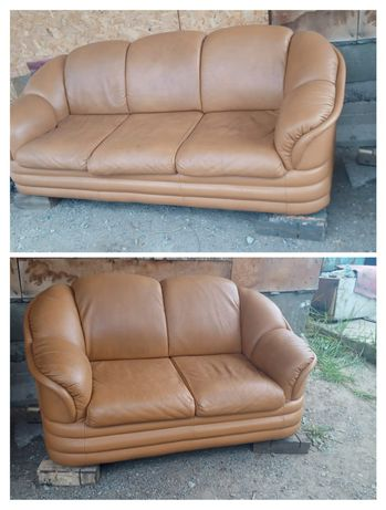 Продам 2 дивана из натуральной кожи в отличном состоянии