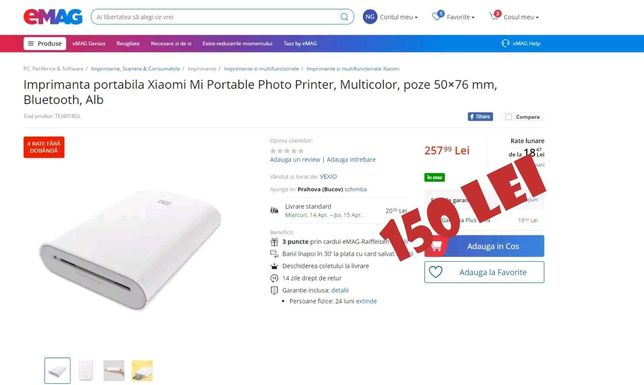 imprimanta portabila Xiaomi Mi