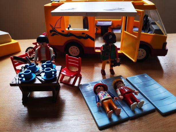 Playmobil camping autorulota camper masina campare set in cutie