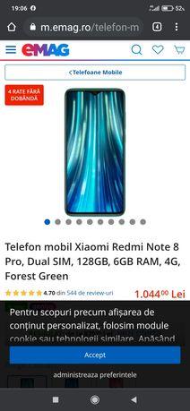 Telefon mobil Xiaomi Redmi Note 8 Pro, Dual SIM, 128GB, 6GB RAM, 4G
