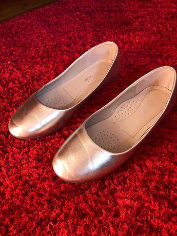 Pantofi Weide Balerini din piele