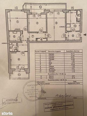 Vanzare apartament 4 camere FAVORIT TUDOR VLADIMRESCU 105000 EURO