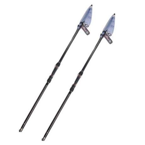 Set 2 Lansete telescopice pentru pescuit la crap lungime 3.60 metri