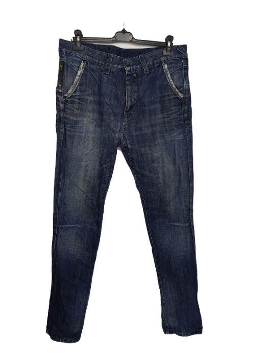 Blugi barbati inalti slim fit Zara marimea W33 L34 albastru X14